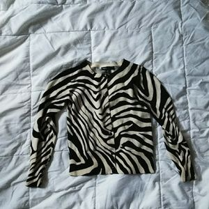 Gap Kids Zebra striped Cardigan size 6/7